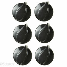 6 X BELLING Oven Hob Gas Control Knobs Black Cooker Flame Burner Switch Genuine
