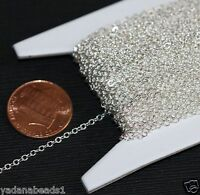10ft of Silver Plated Tiny Flat Cable Chain 1.5mm