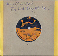DISCO 45 giri AUDREY HALL the best thing for me / DEAN FRAZER head on collision