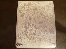 Sizzix Large Embossing Folder CHRISTMAS ALPINE FLOWERS fits Cuttlebug 4.5x5.75in