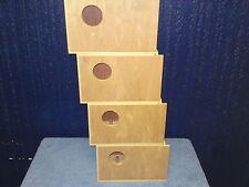 4 x Budgie Nest Boxes 2 right & 2 Left Entry Aviary Breeding Bird Nesting Box