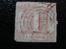 ALLEMAGNE (tour et taxis etat du nord) timbre yt n° 29 obl (A4) stamp germany