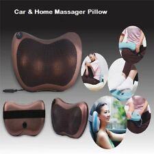 Electric Lumbar Neck Back Massage Pillow Cushion Shiatsu Heat Massager Car Home