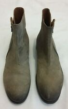 PAUL SMITH SULLIVAN Style Distressed Suede Leather Ankle Boots Beige uk 7 eu 41