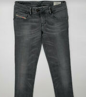 Diesel Nevy Wash 008VQ_Stretch W28 L30 grau Damen Designer Denim Jeans Hose Mode