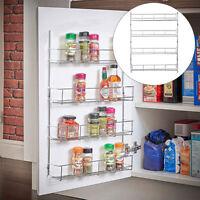 4 Tier Spice Rack Organizer Wall Mount Door Storage Kitchen Shelf Pantry