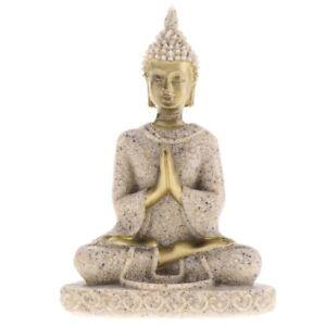 The Hue Sandstone Meditation Buddha Statue Sculpture Handmade Figurine Miniature
