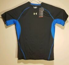 NWT - Under Armour Men's HeatGear Armour Short Sleeve Compression Shirt Black