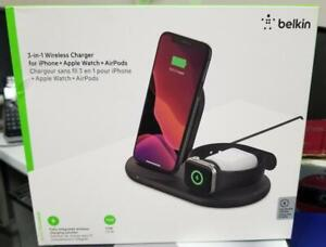 Belkin 3-in-1 Wireless Charger for Apple Watch iPhone and EarPods NEW IN THE BOX