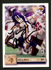 Terry Allen #63 signed autograph auto 1992 Upper Deck Football Trading Card