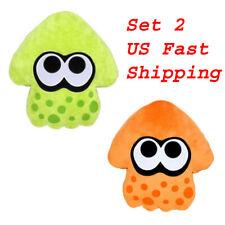 2PCS Anime Splatoon Plush Toys Squid Soft Doll Stuffed Animal Pillow US Stock