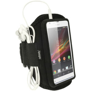 Black Sports Armband for Sony Xperia SP Android Smartphone Gym Running Jogging
