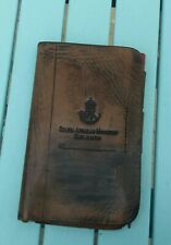 More details for south african mounted rifleman leather note book holder 1913 very scarce