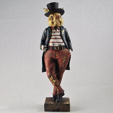 Smart Pig Statue Vintage Clothing Style Unique Novelty Decor Steampunk 80652