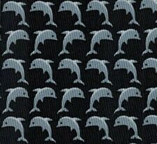 "Sweet Brand New Hermes Silk Tie Gray ""Happy Whale Family"" Rare Fun Mint!"