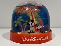 Walt Disney World Parks Snow Globe Minnie & Mickey Mouse w/ Surfboard Florida