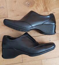 Black Clarks Ladies Trousers Wedge Heel Shoes worn once Size Uk 4.5 Rrp£49