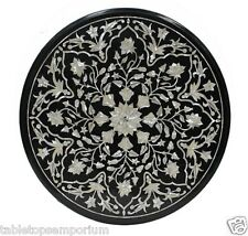 2'x2' Marble End Coffee Table Top Mother of Pearl Gem Marquetry Arts Home Decor