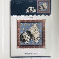 Creative World DMC Kitten Cat Counted Cross Stitch Kit Intermediate Level
