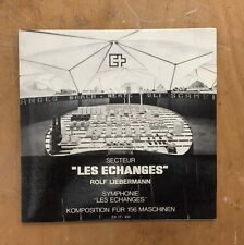VERY RARE SWISS ONLY ROLF LIEBERMANN LES ECHANGES MUSIC FOR 156 MACHINES