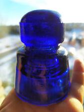 Vintage insulator dark blue cobalt color