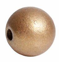 20 Stück Holzperlen Rund Goldfarben 15 mm Holz Perlen Schnullerketten Basteln