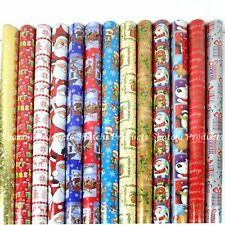 4 x 10M Christmas Gift Wrap Roll Assorted Random Xmas Wrapping Paper Roll