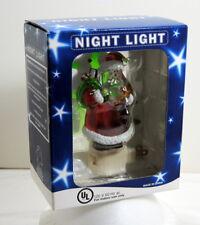 Night Light Santa Claus Christmas Tree Presents Lantern St. Nicholas New In Box