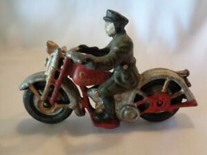 Reproduction of Antique Cast Iron Motorcycle Patrol Officer - with FREE SHIPPING
