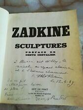 ZADKINE SCULPTURES - envoi à Willy MUCHA - 1949 - envoi de Denys CHEVALIER