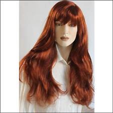 Perücke PL-667-04 ca. 75cm wig wigs lang mit pony NEU Kunsthaar