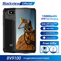 Blackview BV9100 4GB+64GB Cell Phone Android 9.0 13000mAh Waterproof Smartphone
