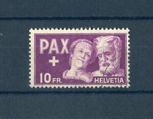 SCHWEIZ Nr.459 gestpl. 10Fr. PAX 1945 ME 150,-++ - SIEHE FOTO !!! (147409)