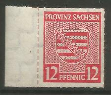 """RUSSIAN ZONE. 1945. 12pf Rouletted & H/Stamp """"Raumberg"""". Mi: 71XD. MNH."""
