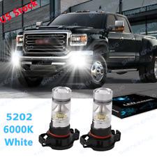 5202 Led Fog Light Lamp Bulbs For Gmc Sierra 1500 2500 3500 Hd 2008 2009 2016 2x