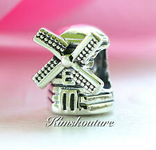Authentic Pandora Sterling Silver Windmill Bead  791297