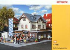 Vollmer 43663 ( 3663 ) H0 - Bahnhofsgaststätte mit Biergarten NEU & OvP