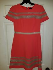 Women's BCBG MAXAZRIA Shell Pink, Nude- Laced inset Dress Short Sleeve Size 6