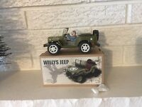 JEEP TIN LihoTOY WIND UP Clockwork WW2 WILLYS 1941 New