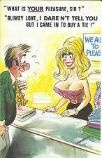 Vintage 1970's Bamforth COMIC Postcard (as new condition) your pleasure sir #434