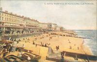 Hastings beach and Carlisle parade; Photochrom celesque