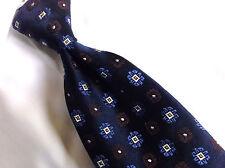 """ERMENEGILDO ZEGNA  BLUE Brown Floral  NECK TIE  100% SILK 4"""" W/ 68"""" XL"""