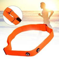Orange Elastic Chest Strap for Polar Wahoo Garmin Wireless Heart Rate Monitor Sx