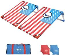 A11N Portable PVC Framed Bean Bag Toss Game Set with 8 Bean Bags & Carry Bag NEW