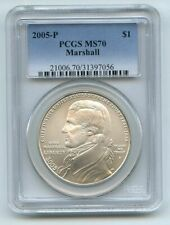 2005 P $1 Chief Justice Marshall Silver Commemorative Dollar PCGS MS70