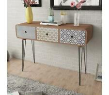 Brown Console Lounge Table Hallway Side Cabinet Stand Decor Furniture 3 Drawers