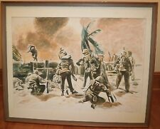 """""""South Pacific"""" WW 2 Combat Watercolor Painting-1992-Israel Louis Winarsky"""