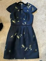 Ted Baker Dress Hartty Dragonfly Jacquard Dress Ted Baker Sz 1 Holiday EUC!!