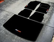 Tappetini Per Auto in nero adatta a Peugeot 205 + 205 GTX Logo Bianco/Rosso +