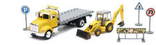 Peterbilt Roll Back Tow Truck  with New Holland Backhoe Toy